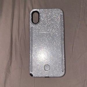Lumee Glitter iPhone X case
